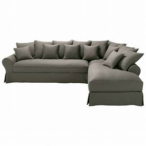 6 seater taupe grey linen right hand corner sofa bastide for 6 seater sectional sofa