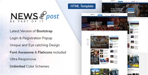 Newspost Responsive Blog Html Template Nulled Download