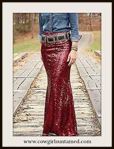 Size Chart 6 Inches Red Wine Sequin Long Maxi Skirt Wine Burgundy Red Long