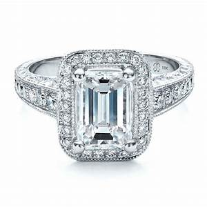custom emerald cut diamond engagement ring 1478 bellevue With emerald diamond wedding rings