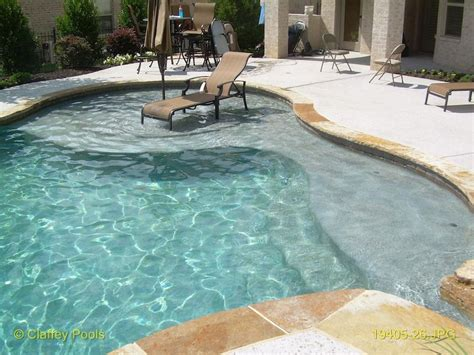 Tanning In The Backyard - tanning ledge pool outdoor pool landscaping