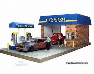 American Car Wash : american diorama buildings car wash diorama with 4 figures working light 1 24 scale 77730 ~ Maxctalentgroup.com Avis de Voitures
