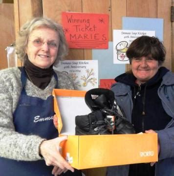 soup kitchen guest wins new boots in ongoing 40th