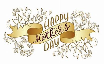 Vector Ribbon Calligraphy Mothers Happy Illustration Lettering