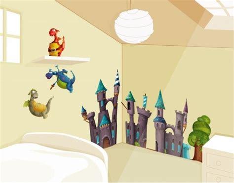 deco chambre chevalier stickers dragons stickers muraux enfant décoration
