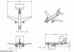 Three View Drawings Of The Actual Aircraft