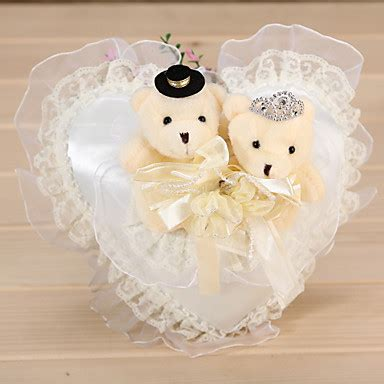 heart shaped wedding ring pillow with couple 246837 2018 7 99