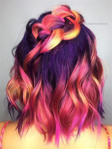 32 Cute Dyed Haircuts To Try Right Now Hair Hair