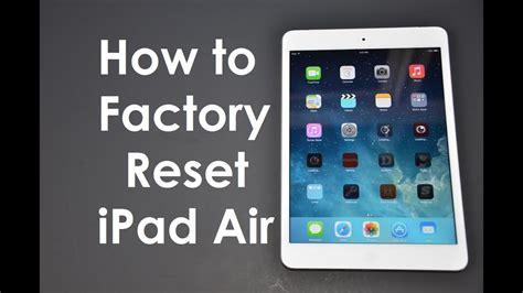 factory reset master wipe ipad iphone ios ios