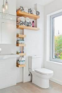 custom shelves for extra storage in a small bathroom With tips to decorate bathroom storage shelves