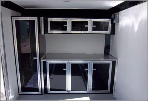 aluminum race trailer cabinets cabinet  home design ideas