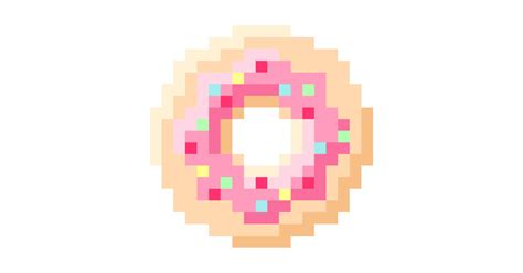 How To Draw A Donut And A Burger In Pixel Art