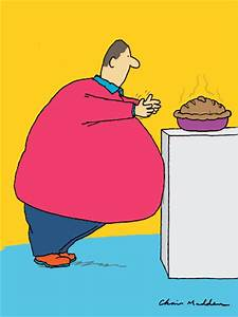 Over eating, obesity, diet cartoons