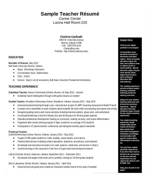 Free Teacher Resume  40+ Free Word, Pdf Documents