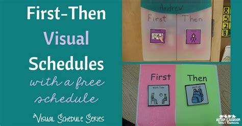 Visual Schedule Series Firstthen Schedules (freebie!!)  Autism Classroom Resources