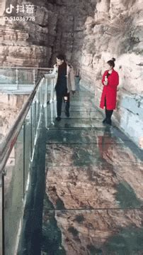 scary glass bridge prank  gifs