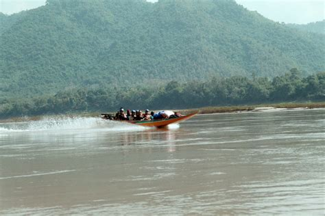 Speed Boat Laos by Luang Prabang Laos March 2003