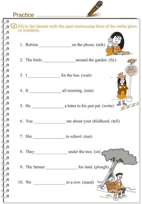 worksheets on past continuous tense for grade 2 grade 3 grammar lesson 10 verbs the past continuous