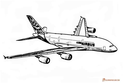 airplane coloring pages  printable bw pictures