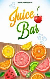 Juice bar poster Vector | Free Download
