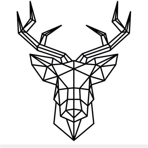 geometric tattoo dessins origami cerf