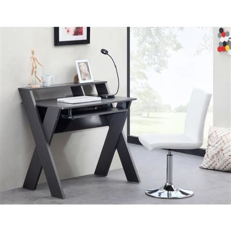 bureau 90 cm de large kamao bureau secrétaire contemporain gris l 90 cm