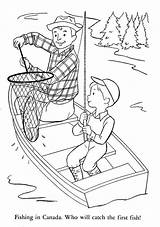 Coloring Pages Camping Fish Son Father Fishing Printable Colouring Canada Dad Sheets Children Around Peru Alaska Fisherman Mexico Lands Bb sketch template