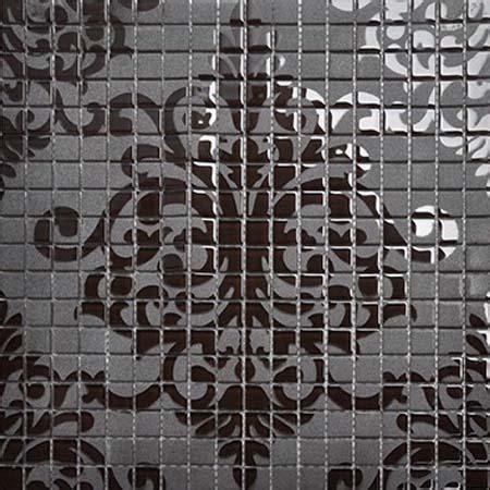 mosaic tile patterns 15x15mm black glass tile