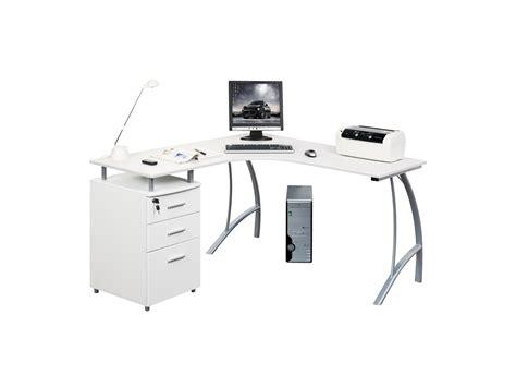 bureau multimedia blanc bureau multimédia antinoe caisson 3 tiroirs blanc