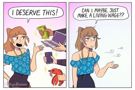 comics comparing  people  millennials