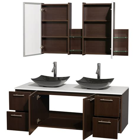 medical cabinets with sink amare 60 inch double bathroom vanity glossy white finish