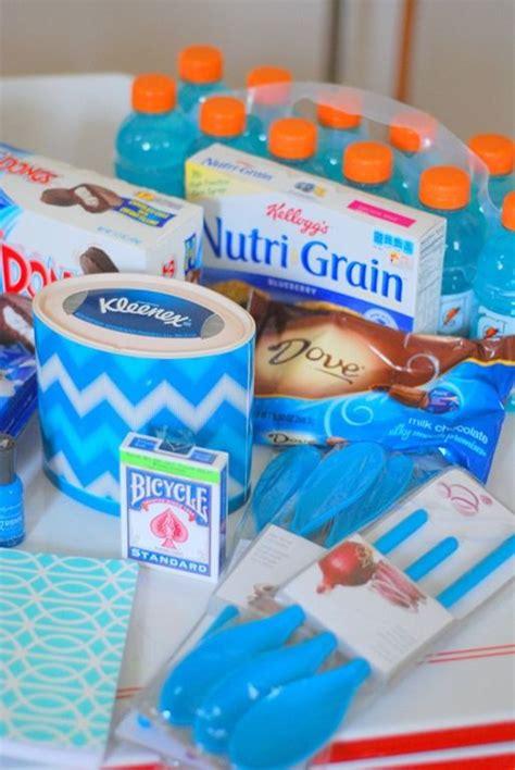 floral  fudge diy    blue care package