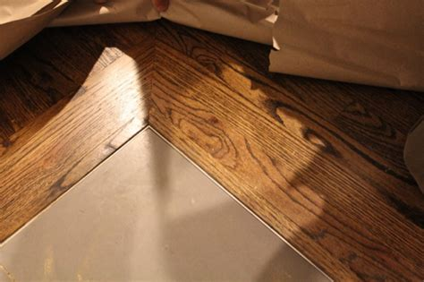 up of the transition between the hardwood floors of