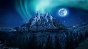 mountain moon nightscape  wallpapers hd wallpapers