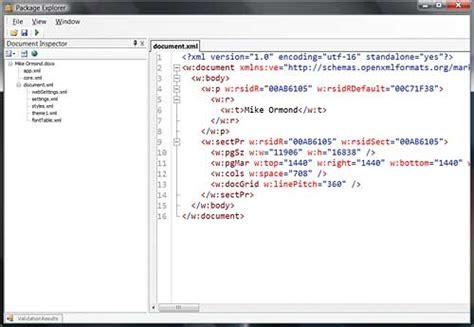 programming office documents  open xml xml tutorial