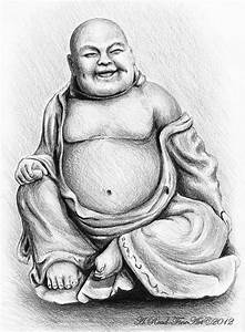 Buddha Buddy Drawing by Andrew Read
