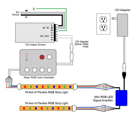 Lcd Wiring Diagram by Vlightdeco Trading Led Wiring Diagrams For 12v Led Lighting
