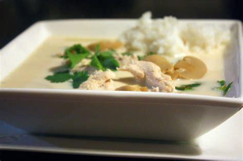 cuisine thailandaise poulet recette tom khar soupe thaïlandaise de poulet à la