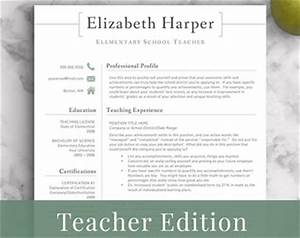 teacher resume etsy With etsy resume template free