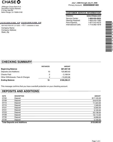 Free Bank Statement Template by Sle Bank Statement For Free Formtemplate