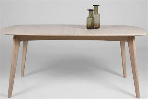 livraison repas bureau table repas en chêne massif avec rallonge 180 270cm mykaz