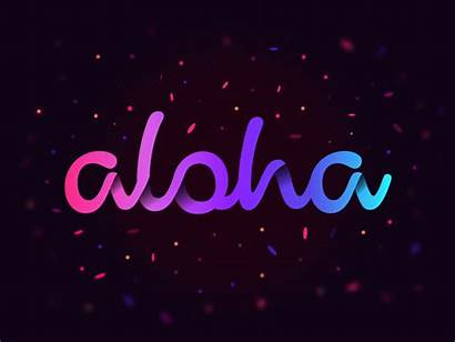 Aloha Dribbble Animation Rive Effects Shadow Let