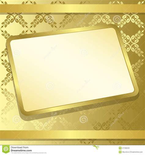 rectangle frame  gold background vector stock vector