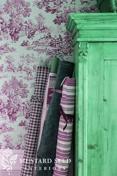 Sewing Fabric Organization Walls Antique Mustard Miss