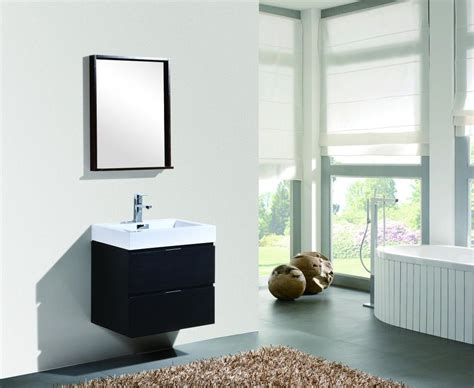 Modern Bathroom Accessories Canada by Bliss 24 Quot Kubebath Black Wall Mount Modern Bathroom