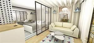 comment amnager un appartement de 30m2 amnagement petit With meubler un petit appartement 8 chambre salon amenagements astucieux pour petits espaces