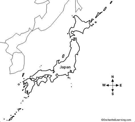 outline map japan enchantedlearningcom