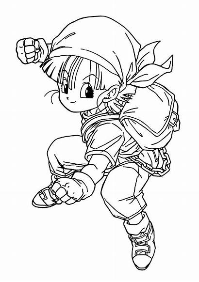 Dragon Ball Coloring Pages Bulma Cell Super