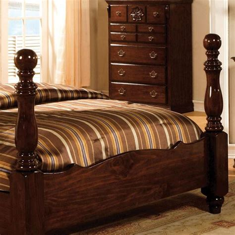 tuscan colonial style dark pine  piece bedroom set  shop  home