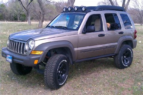 old jeep liberty jeep liberty ride leveling kits installed rear